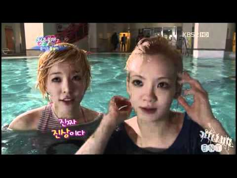 120310 Sunny and Hyoyeon IY Swimming Cut