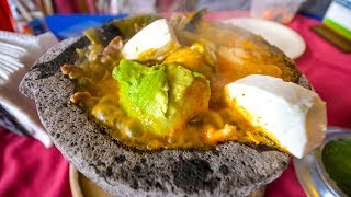 LAVA SALSA AVOCADO - Molcajete Caliente Mexican Food at Los Sifones, Mexico City!