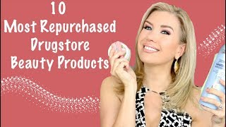 10 MOST REPURCHASED DRUGSTORE MAKEUP & SKINCARE PRODUCTS | Risa Does Makeup