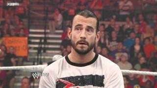 Raw - CM Punk crashes Alberto Del Rio's victory speech