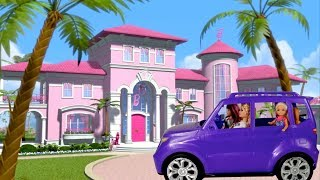 Barbie Family 24 Hours Overnight in Supermarket, Pool , Box, Pink Bathroom!