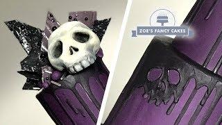 Skull Drip Cake Easy Halloween Cake Ideas