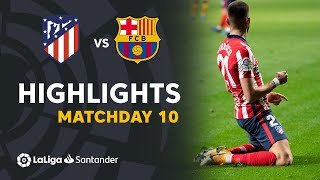 Highlights Atletico Madrid vs FC Barcelona (1-0)