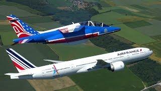 Air France B777 et la Patrouille de France : Vol ATHOS777