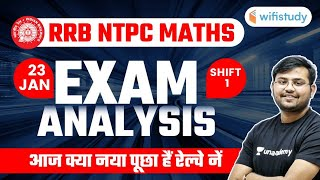 RRB NTPC Exam Analysis (23 Jan, Phase-2, 1st Shift)   Maths Asked Question by Sahil Khandelwal