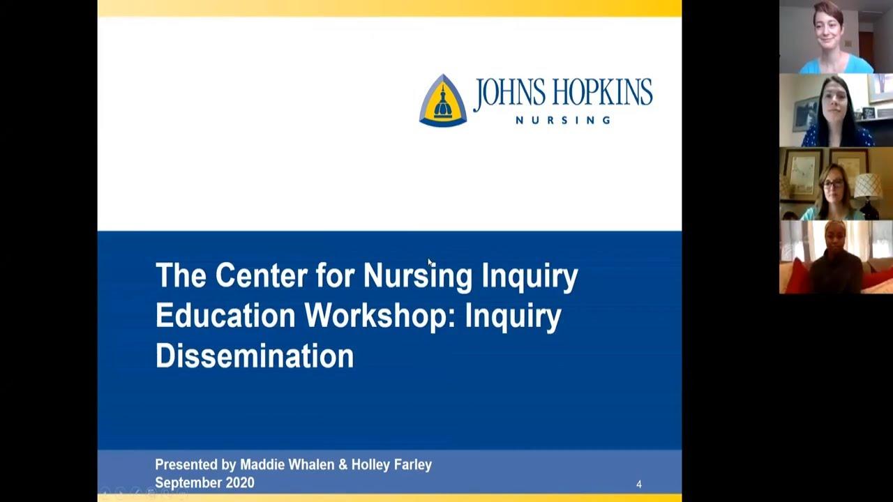 Center for Nursing Inquiry | Dissemination