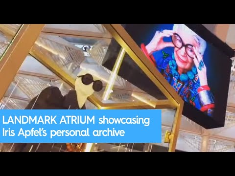LANDMARK ATRIUM showcasing a collection of pieces from Iris Apfel's personal archive