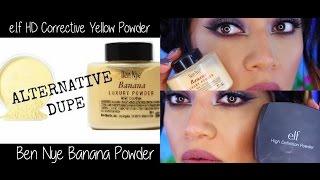 Ben Nye Banana Powder vs e.l.f HD Corrective Yellow Powder - Comparison + Demo