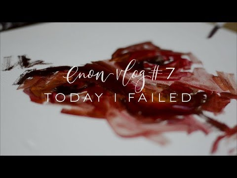 enon art vlog # 7 | Today I Failed