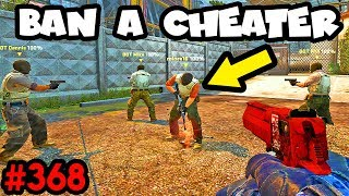 HOW TO BAN A CHEATER in your team? - CS:GO BEST ODDSHOTS #368
