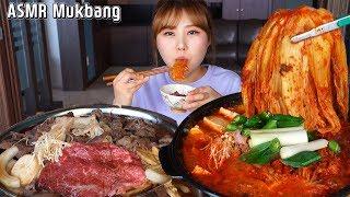 ASMR Mukbang|김치찌개와 불고기를 함께 먹는 집밥 먹방!!