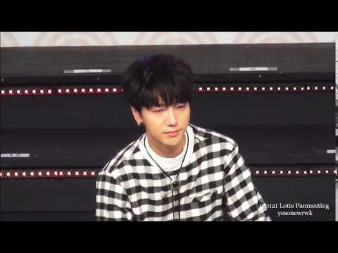 [fancam]170121 Lotte Fanmeeting Focus Yesung 【make fun of yesung】