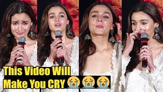 Alia Bhatt CRYING At Kalank Trailer Launch Is Very EMOTIONAL Video