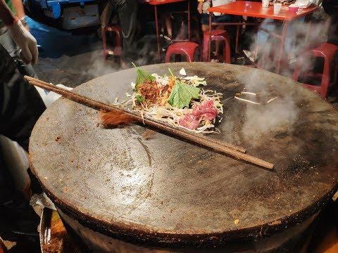 蒙古烤肉—台灣街頭小吃.大竹夜市 Mongolian barbecue Taiwan street food. Night market