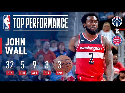 John Wall Drops 32 Points and 9 Assists to Lead Wizards over Pistons | 2018 NBA Preseason