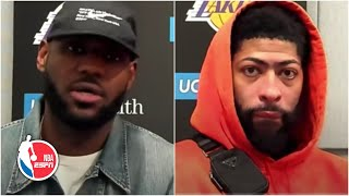 LeBron James and Anthony Davis on the Lakers' postseason and the play-in tournament | NBA on ESPN