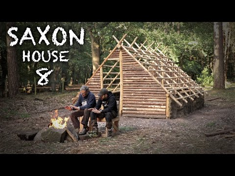 Saxon Camp - First Night in the Saxon House: Bushcraft Project (PART 8)