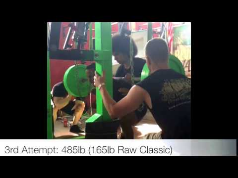 3x Bodyweight Squat: 485lb Low Bar Squat at 161lbs