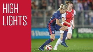 Highlights Ajax Vrouwen - Olympique Lyon (Champions League)