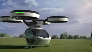 Helikopter Tipi Uçan Sürücüsüz Elektrikli Otomobil Tanıtıldı