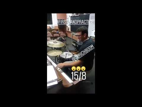 Dope Drummer Plays Keyboards With His Left Hand! MUST SEE!
