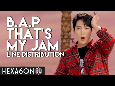 B.A.P - That's My Jam Line Distribution (Color Coded)