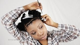 Braid Pattern for Invisible Part Sew In Weave Hairstyles Tutorial Part ...