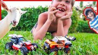 Lego City Stunt Truck and Buggy Adventure + Time Lapse Build