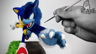 Create Sonic & Werehog with Clay / make figure / Clay tutorial [ kiArt ]