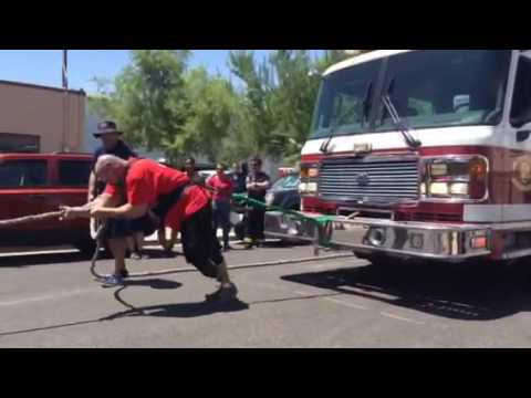 RUSH™ Rebel Dan Nunnelly pulls a 45,000lb fire truck