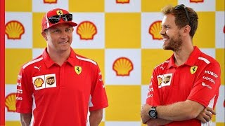 Sebastian Vettel and Kimi Raikkonen attempt tricky driving challenge! | The Shell Dual Drive