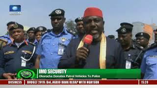 Imo Security: Gov. Okorocha Donates Patrol Vehicles To Police
