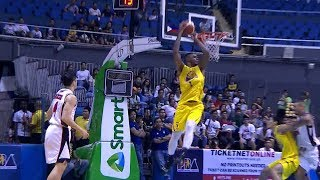 Jones with the block and the slam!   PBA Commissioner's Cup 2019 Quarterfinals