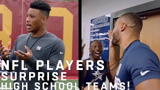 NFL Players Surprise High School Football Teams!