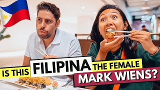 Is this FILIPINA the FEMALE Mark Wiens?? FUNNY Taste Test of FOOD DISTRICT BGC