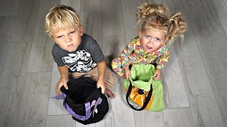 We ATE ALL our kids HALLOWEEN CANDY! *They Flipped Out*