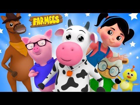 Farmees Cartoon Videos for Children | Kindergarten Nursery Rhymes for Kids