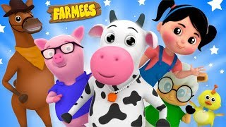 Farmees Cartoon Videos for Children | Kindergarten Nursery Rhymes for Kids