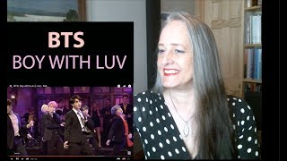 Voice Teacher Reaction to BTS: Boy with Luv SNL | (방탄소년단) '작은 것들을 위한