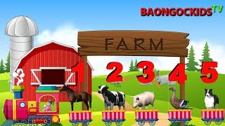 Farm Animals Song - Learn Animals Sounds - The Farmer In The Dell