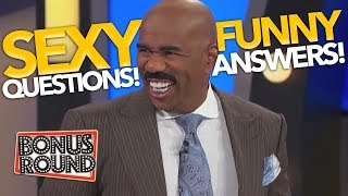 """STEVE HARVEY asks... """"Whats the SEXIEST..."""" Funny Family Feud Answers & Contestants! Bonus Round"""