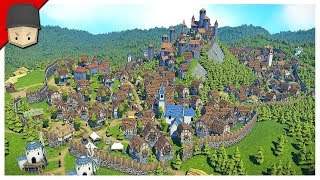 MEDIEVAL CITY 300+ POPULATION! - Foundation Gameplay (Medieval City Builder)