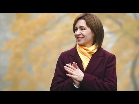 La UE y Putin felicitan a Maia Sandu por su victoria en Moldavia