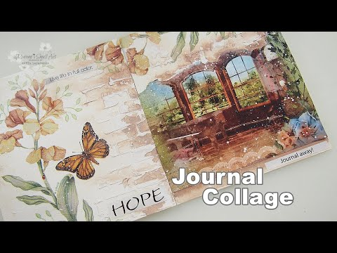 Using Napkin for Decoupage Collage Journal Page for a Subscriber #5  ♡ Maremi's Small Art ♡