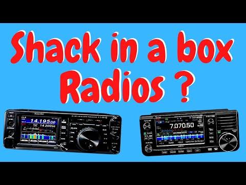 What is a Shack in a Box Radio?  FT991A,IC7100, Ft818 AND IC705
