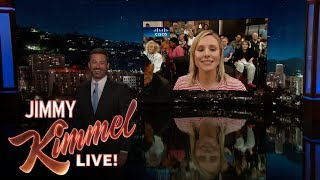 Jimmy Kimmel Talks to Kristen Bell in Orlando After Hurricane Irma