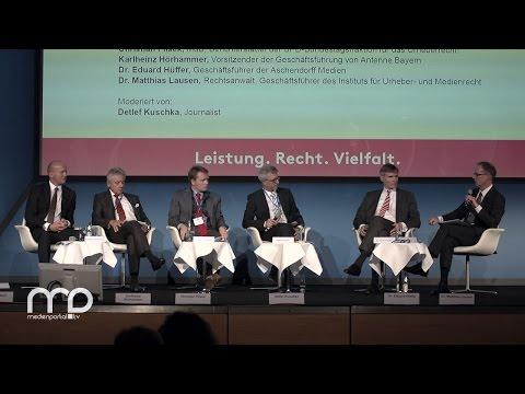 Diskussion: Bedeutung der Leistungsschutzrechte für die Medienvielfalt