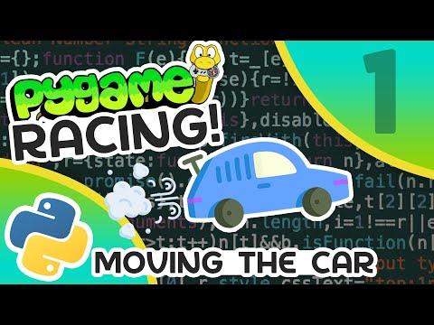 Pygame Car Racing Tutorial #1 - Moving The Car