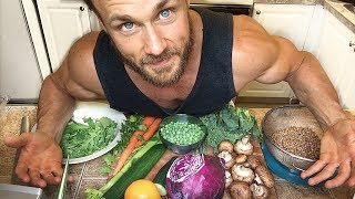 What I Eat To Stay Strong & SHREDDED Vlog | Vegan Nutrient Analysis