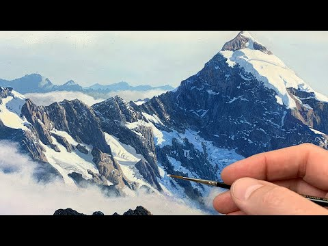 Painting a Mountain   Time Lapse   Episode 200
